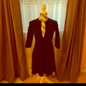 3/4 sleeve wool dress